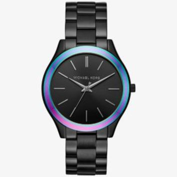 Slim Runway Black-Tone and Iridescent Watch | Michael Kors