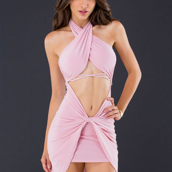 Sarong It's Right Strappy Halter Dress