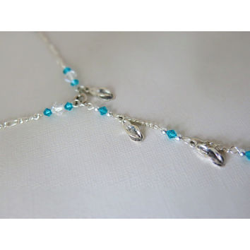Preserve A Timeless Treasure of Summertime Sandals - Silver Necklace