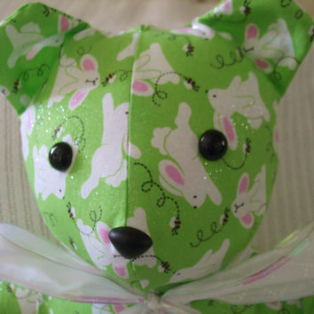 Rabbit and Bee Easter Themed Stuffed Teddy Bear