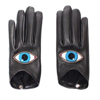 Shop - Eyes leather gloves | Made by Yazbukey, selected by Valery Demure |