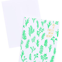 Botanist New Year Card