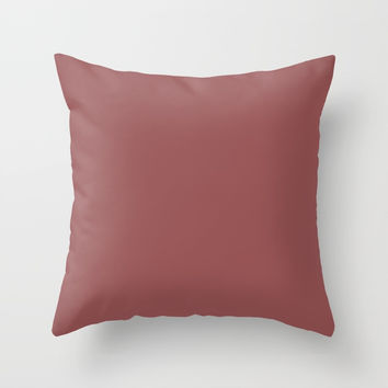 Marsala Throw Pillow by spaceandlines