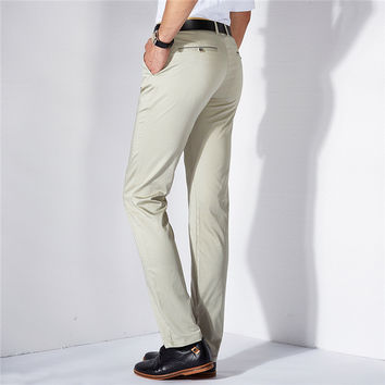 Summer Men Casual Men's Fashion Slim Stretch Pants [6541360131]