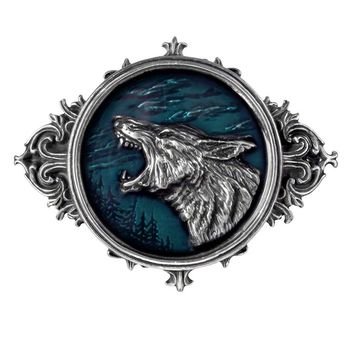Alchemy Gothic Wulven Wolf Belt Buckle