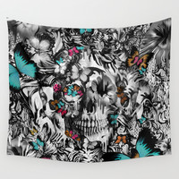 Butter and bones Wall Tapestry by Kristy Patterson Design