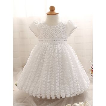 baby girl dress Sequined Christening Gown newborn dresses Brand Ceremonies roman clothing style cute roupas de bebe recem nacido