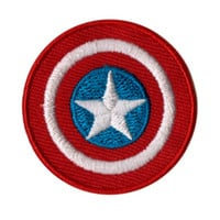Marvel Captain America Shield Logo Mini Iron-On Patch