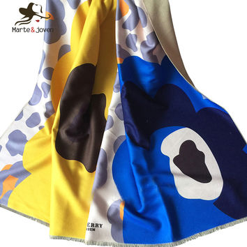 Ladies Imitated Cashmere Scarf Oversized Winter Shawls and Scarves for Women Fashion Camouflage Pashmina Blanket Scarf for Girls