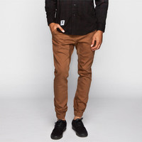 Crash Mens Chino Jogger Pants Tobacco  In Sizes