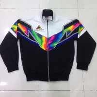 vintage 90s le coq sportif track top hip hop style sweater jacket