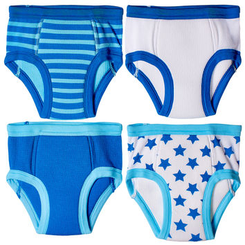 4-Pack Little Boys Waffle Cotton Stars & Stripes Training Pants