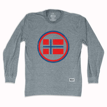 Norway Vintage Crest Soccer Long Sleeve T-Shirt