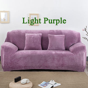 Slipcovers Fleece Sectional Couch Covers blanket Sofa Set sofacover l shaped corner living Room Fabric colorful Sofa Cover