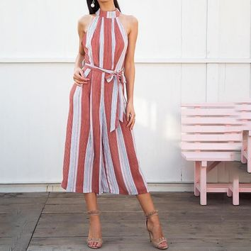 Candy Cane Striped Jumpsuit