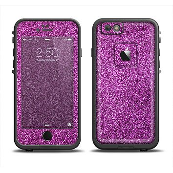 The Purple Glitter Ultra Metallic Apple iPhone 6 LifeProof Fre Case Skin Set