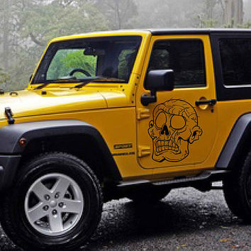 zombie car hood decal Zombie Car Decals Zombie Car Truck Side Body Graphics Decal Sticker for car kikcar19