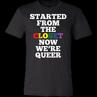 Queer Closet LGBT Rainbow Flag Gay Lesbian Pride Men Short Sleeve T Shirt - TL00667SS