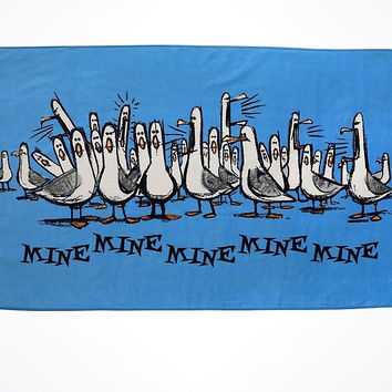 Disney Parks Mine Mine Mine Blue Beach Towel New with Tags