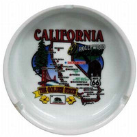 california ashtray- state map Case of 72