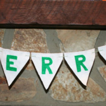 MERRY Christmas banner for home or school decorations and parties