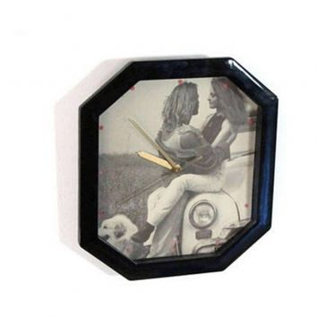 1992 black octagonal wall clock