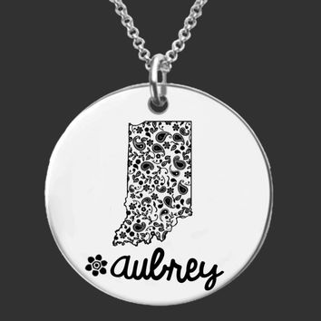 Indiana Personalized Necklace | Indiana State
