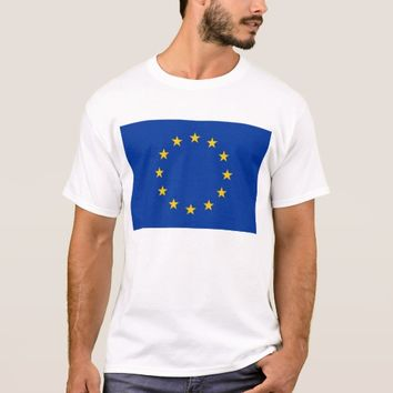T Shirt with Flag of European Union