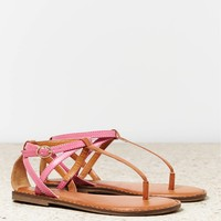 AEO Women's Strappy Sandal (Tan)