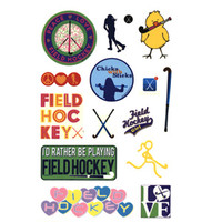Field Hockey Reusable Stickers-longstreth
