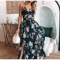 Jessie Mae Cut-Out Floral Maxi Dress