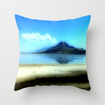 Antelope Island Throw Pillow by Jessica Ivy