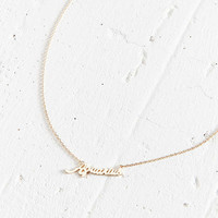 Zodiac Nameplate Necklace | Urban Outfitters