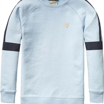 LMFMS9 Scotch & Soda Boys Light-Blue Sweatshirt