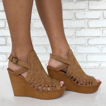 Love Song Wedges in Tan