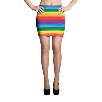 PRIDE, RAINBOW Mini Skirt