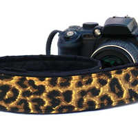 Leopard Print Camera Strap. dSLR Camera Strap. Camera Accessories.