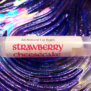 STRAWBERRY CHEESECAKE LIP BALM - Handmade with All-Natural Shea Butter, Cocoa Butter & Coconut Oil