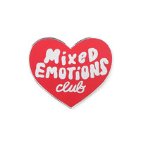 Mixed Emotions Club Pin - Red