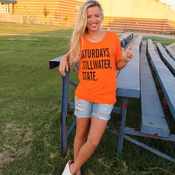 OSU Saturdays Stillwater State boyfriend t-shirt