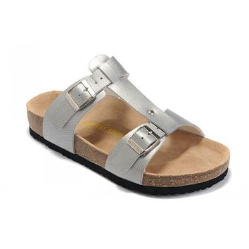 Birkenstock Larisa Sandals Artificial Leather Silver - Ready Stock