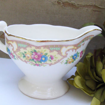 Antique Creamer Cream Pitcher Mildred Mt Clemens Pottery 1930s