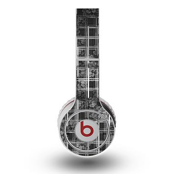 The Grayscale Lattice and Flowers Skin for the Original Beats by Dre Wireless Headphones