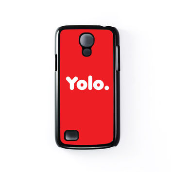 Yolo Red Black Hard Plastic Case for Samsung Galaxy S4 Mini by textGuy