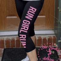 Run Girl Run running Performance Workout Capris. Fitness Capri. running shorts. running Capris. Gym Leggings. Running Pants. Compression