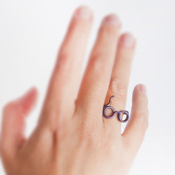 Harry potter glasses ring, Harry Potter lightning bolt.