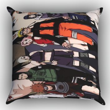 Anime Naruto Character Y0385 Zippered Pillows  Covers 16x16, 18x18, 20x20 Inches