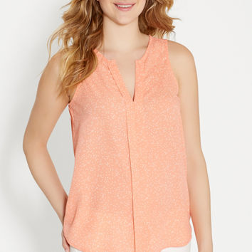 the perfect sleeveless blouse in dot print | maurices
