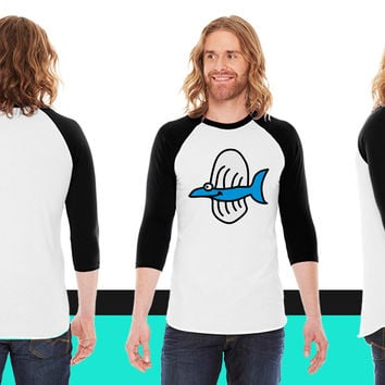 underwater coolfish 3c American Apparel Unisex 3/4 Sleeve T-Shirt