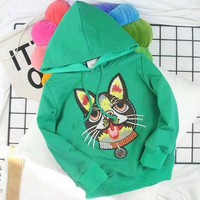 Gucci Girls Boys Children Baby Toddler Kids Child Fashion Casual Top Sweater Pullover Hoodie